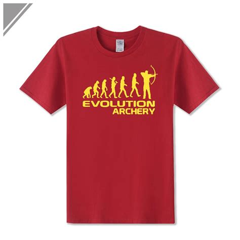 aliexpress com buy 2018 summer new man t shirt cotton short sleeve human evolution of archery