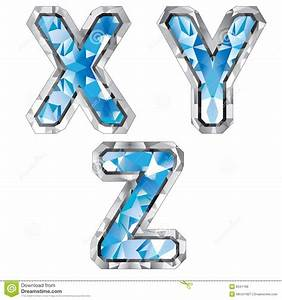 gem letter x y z royalty free stock image image 8341186 With gem letters