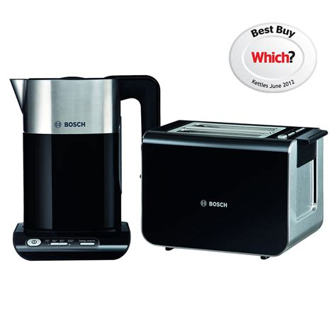 bosch toasters uk bosch styline collection twk8633gb kettle and tat8613gb