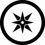 Symbol Compass Circular Kompas Simbolo Symbool Kompass
