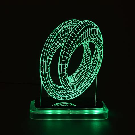 Mobius - 3D Illusion Lamps - Touch of Modern