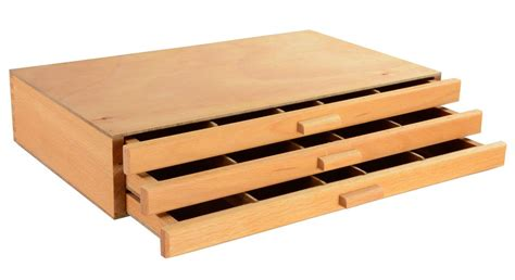 wooden box with drawers wooden artist box 3 drawers box for supplies