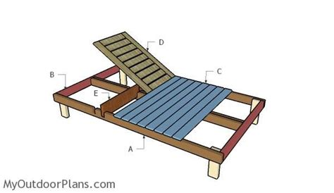 building  double lounger outdoor furniture plans