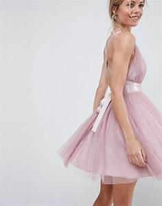 Robe Bal De Promo Courte : asos design asos premium robe courte de bal de promo en tulle avec liens ruban ~ Nature-et-papiers.com Idées de Décoration