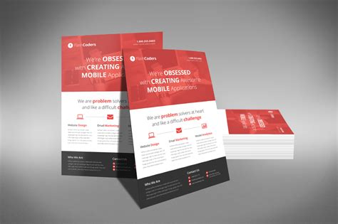 flat design corporate flyer flyer templates  creative