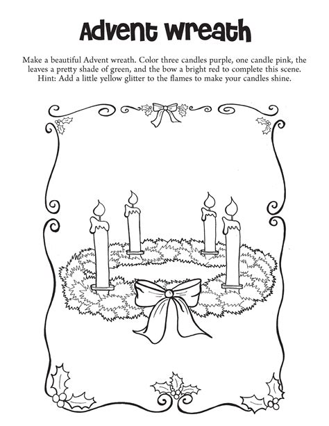 Advent Coloring Page New Calendar Template Site