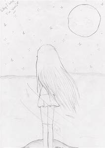 Alone Girls Drawing All New Alone Girl Draw Photo ...