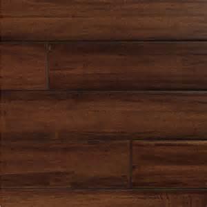 shop easoon diy 4 87 in w prefinished walnut locking hardwood flooring manchurian at