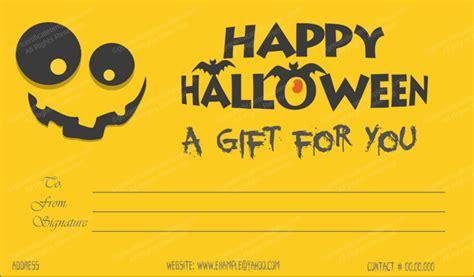 halloween gift certificate template  editable
