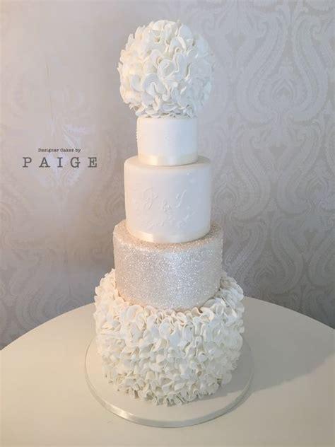 white glitter  ruffles designer cakes  paige