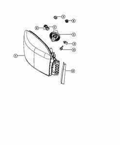 2006 Dodge Ram 2500 Grommet  Retainer  Headlamp  Headlamp