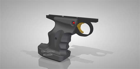 load in 3d viewer uploaded by custom target pistol grip for crosman 22xx 3d cad