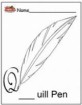 Pen Coloring Quill Pages Printable Preschool Template Getcoloringpages Open sketch template