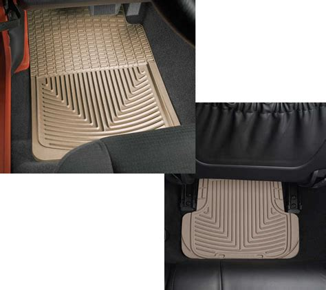 floor mats jeep patriot weathertech all weather front rear floor mats for 07 10 jeep 174 patriot mk quadratec