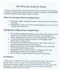 types of process essays
