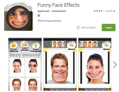 top   funny faces apps  android andy tips