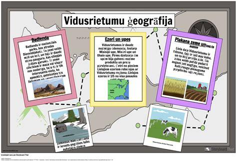 Vidusrietumu Ģeogrāfija Storyboard by lv-examples