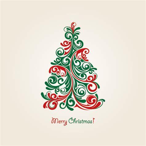 all vector design christmas tree vector