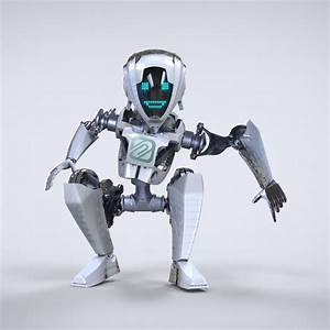 Robot Cartoon Character 3d Model Fbx