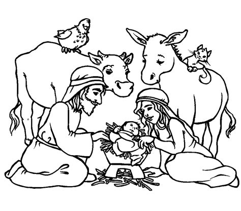Jesus In The Manger Coloring Pages 2402414