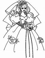 Coloring Wedding Pages Dress Dresses Comments sketch template