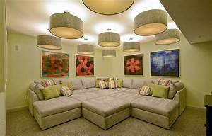 47 cool finished basement ideas design pictures With small sectional sofa basement