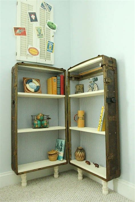 repurposed suitcases simple diy ideas  decorating