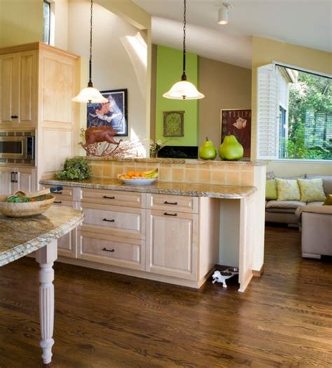 green kitchen accents the of a home creating a warm kitchen 1379