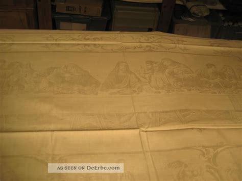 damast bettwäsche weiß 26 x ein sehr gepflegtes altes abendmahl damast tafeltuch um 1900 wei 223