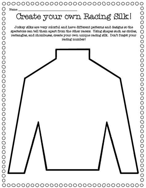 Jockey Silks Coloring Pages
