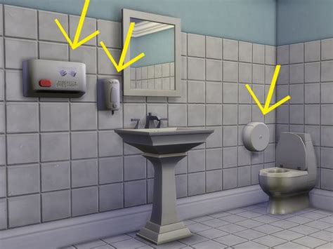 sims resource public bathroom decor  eve