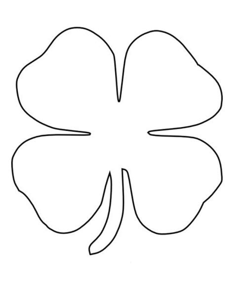 clover template four leaf clover coloring pages patrones leaf clover leaves and craft