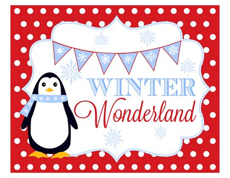 winter wonderland party printables catch  party