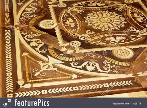 architectural details wood marquetry stock image