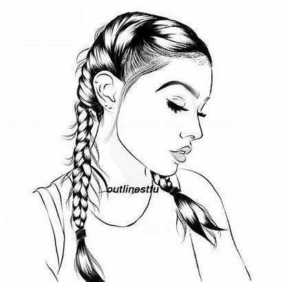 Branco Preto Outline Desenhos Drawings Drawing Meninas