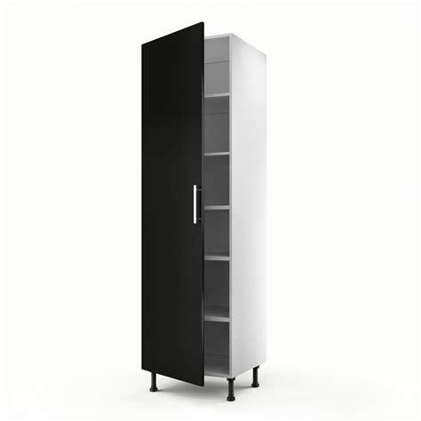 meuble de cuisine colonne noir 1 porte délice h 200 x l 60