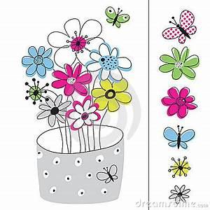 Blumen Bilder Gemalt : vektorabbildung mit den blumen gemalt stockfotos bild 10801333 ~ Orissabook.com Haus und Dekorationen