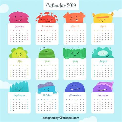 calendario colorido plano ano de baixar vetores gratis