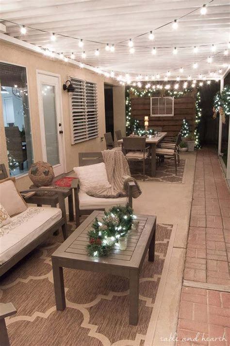 diy string lights ideas  fall porch  yard