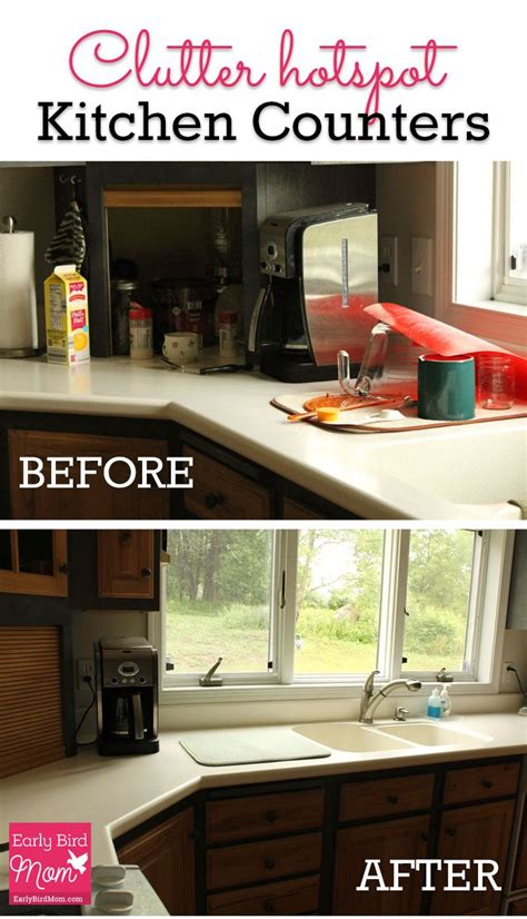 unclutter your life clearing the kitchen counter of kitchen counters are a clutter magnet in my home heres