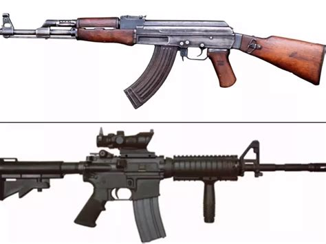 difference   assault rifle