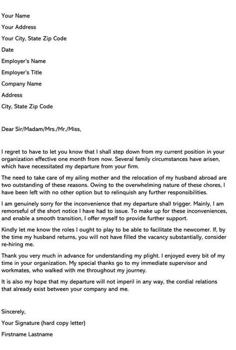 40 Extraordinary Resignation Letter Sample Personal Reason Picture Ideas – resignation letter