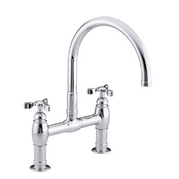 kohler parq bridge faucet kohler k 6130 3 bv parq deck mount kitchen bridge faucet