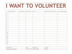 volunteer sign up sheet template word templates With volunteer sign up form template