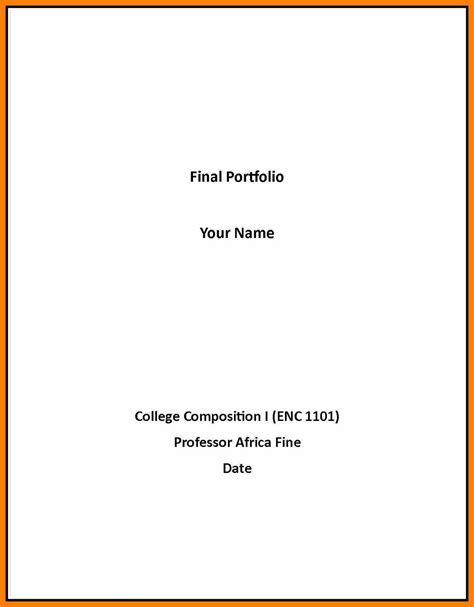 cover page exle for essay resume format