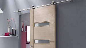 Choisir une porte coulissante for Porte de garage coulissante et porte intérieure 3 panneaux
