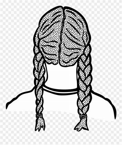 Braids Braid Clipart Clip Lineart Sweetgrass Woman