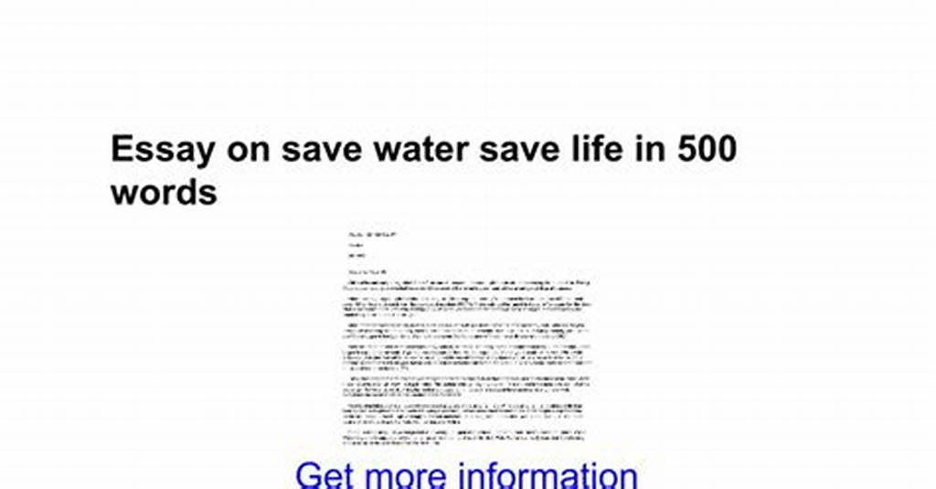 #Essays #On #Save #Water #Importance #Of #Water #In #Hindi