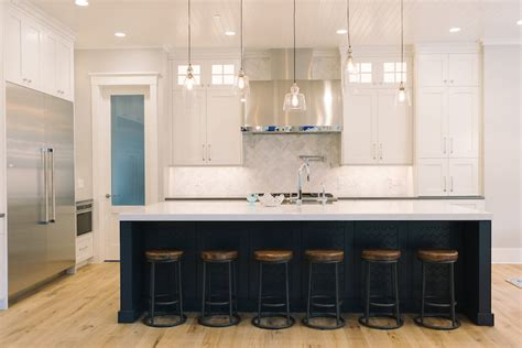 repose gray kitchen cabinets mismatched island pendants transitional kitchen 199