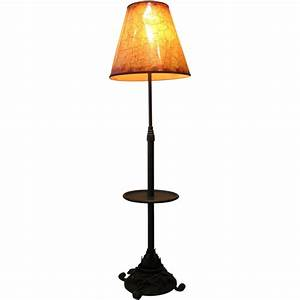 192039s French Wrought Iron Hammered Hand Forged Floor Lamp